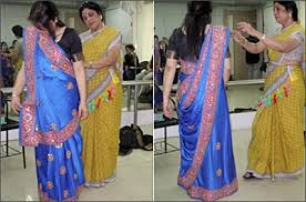 How To Drape A Gujarati Style Saree Rediff Com Saree Draping Made Easy