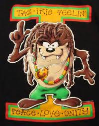 image rasta taz looney tunes rastafarian shirt tazmanian devil