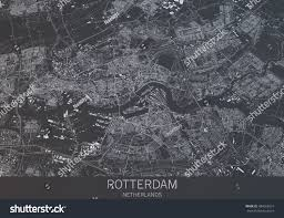 Satellite View Map Rotterdam Map Satellite View City Netherlands Stock Illustration