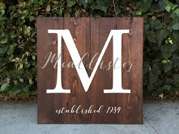 Family Wood Sign Home Decor Family Monogram Crest Wooden Sign Rustic Home Decor Family Crest
