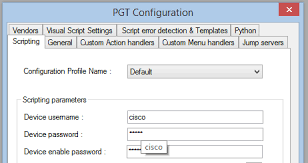 using python to script cisco routers