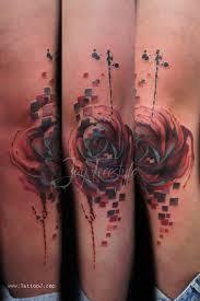 leg flower tattoos flower rose sketch leg tattoo on tattoochief com rose tattoos