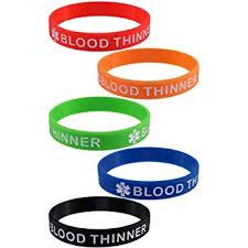 blood bracelet images 5 pack quot blood thinner quot silicone bracelet wristbands jpg