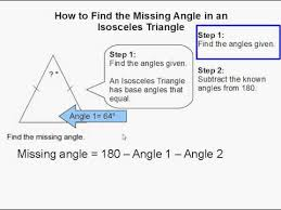 finding missing angles in triangles worksheet how to find the missing angle in an isosceles triangle