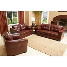 Sofa And Armchair Set Abbyson Living 3 Pc Maverick Top Grain Leather Sofa Loveseat And