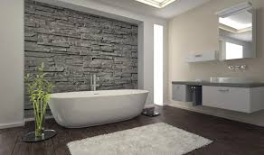 Natural Stone Bathroom Tile Stone Bathroom Floor Glass Shower Room Mix Towel Bar Black Stone