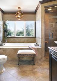 oil rubbed bronze chandelier bathroom contemporary with bath