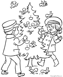christmas tree coloring printables