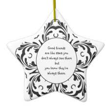 best friend quotes tree decorations ornaments zazzle