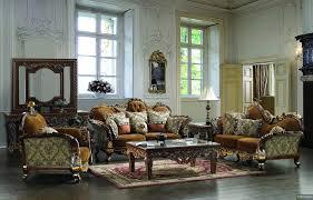 traditional european design formal living room sofa set w carved