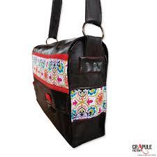 sacoche de bureau sacoche besace cartable boheme fleur étudiant bureau cuir