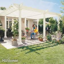 Building A Pergola Attached To The House by How To Build A Pergola Pergola Plans U2014 The Family Handyman