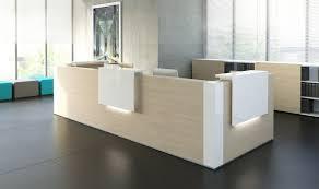 Buy Reception Desk L Shape Reception Desk Chestnut White Buy At Best