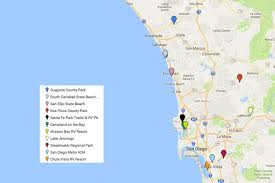 San Diego Map Of Hotels by San Diego Camping How To Find The Perfect Campground