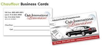Car Service Business Card Limo Business Cards Limousine Printing
