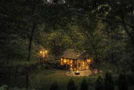 in the woods the glass house a cabin in the woods home design garden