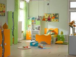 kids bedroom fascinating blue and orange kid bedroom decoration