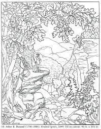free printable coloring pages for adults landscapes coloring pages mountains mountains with a rainbow coloring page free