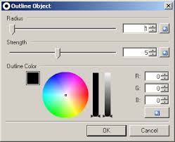 windows 7 how to outline fonts with a different color super user
