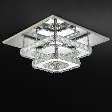 Esszimmer Deckenleuchte Ac100 240v Moderne Kristall Lampe Deckenleuchte Edelstahl