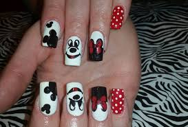 acrylic nails l mickey mouse inspired l nail design youtube