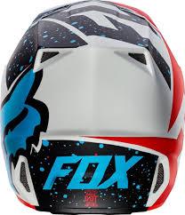 berik motocross boots fox 17 v2 nirv ece red white blue mx helmet motocross off road