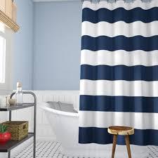 Vertical Striped Shower Curtain Striped Shower Curtains You Ll Wayfair
