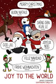 artist chapman illustrates international names for santa