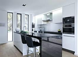 cuisine noir et blanc emejing cuisine wenge et blanc 2 images design trends 2017