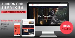 accounting services responsive muse template by k project