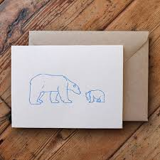 polar letterpress card by wolf ink notonthehighstreet
