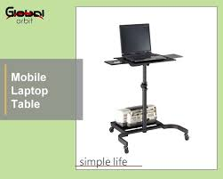 adjustable movable laptop table mobile laptop table with wheels adjustable computer table with cpu
