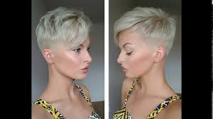 platinum blonde short haircuts youtube