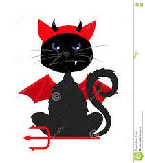 halloween cat with devil bat wings stock vector image 76806969