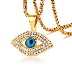 eye pendant necklace images Wholesale stainless steel cz evil eye pendant necklace jc jpg