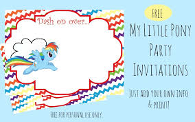 pony invitations birthday party image collections invitation