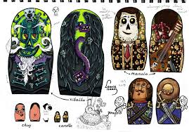 doll design book coloured designs for the book of life nesting doll by leonieisaacs
