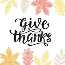 give thanks thanksgiving day poster stock vector 858035468