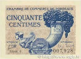 chambre des commerces de bordeaux 50 centimes régionalisme et divers bordeaux 1921 jp 030 28