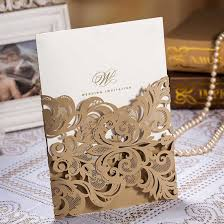 invitation boxes cheap wishmade 50pcs champange gold wedding invitations cards stock with