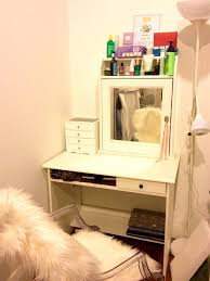 furniture small makeup vanity with mirror and lights for home