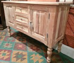 distressed white wash buffet sideboard solid acacia wood hand