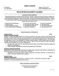 management resume templates wealth management leader resume template premium resume sles