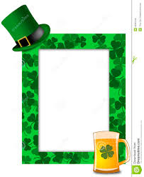 st patricks day leprechaun hat beer shamrock frame royalty free