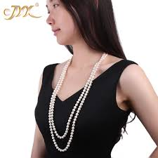 pearl necklace woman images Jyx white round freshwater pearl necklace for women accessories jpg