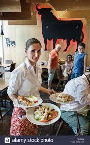 blue martini waitress tapas restaurant stock photos u0026 tapas restaurant stock images alamy