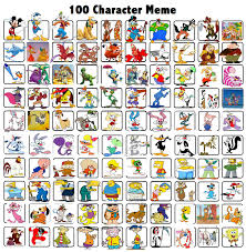 Memes Characters - 100 characters meme by bart toons on deviantart