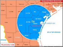 map of corpus christi truck ads corpus christi designated market map