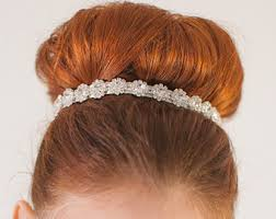 bridal hair bun bridal hair accessories curated by i do au on etsy