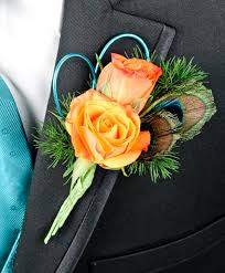 boutonniere prom flirtatious feathers prom boutonniere in shreveport la labloom